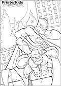 Gargoyle Companion - Batman coloring page
