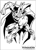 Power Jump - Batman coloring page