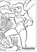 Poison Ivy - Batman coloring page