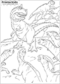 Coloring page with Dinosaurs