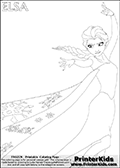 Coloring page with ELSA from the 2013 movie by DISNEY PIXAR called FROZEN (FROST in several countries as well). This coloring page for printing show the magical elderly sister princess that become Queen Elsa. Only part of Elsa and her amazing dress is visible on this kids coloring page to keep the level of detail on the areas high! Print and color this DISNEY FROZEN ELSE page that is drawn by Loke Hansen (http://www.LokeHansen.com) based on a DISNEY FROZEN movie poster image.