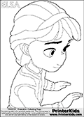 DISNEY FROZEN - Young Elsa - Coloring Page 18