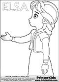 DISNEY FROZEN - Young Elsa Nice To Meet You - Coloring Page 20