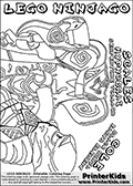 Coloring page with COLE and SCALES from the popular LEGO NINJAGO series. This coloring print has the text LEGO NINJAGO COLE BLACK NINJA EARTH ELEMENT and SCALES HYPNOBRAI SERPENTINE VILLAIN written with colourable letters in addition to the colorable LEGO NINJAGO COLE and SCALE characters. Print and color this LEGO NINJAGO page that is drawn by Loke Hansen (http://www.LokeHansen.com) based on the popular LEGO NINJAGO series and figures.