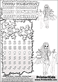 Coloring and letter practice page (the letter S) with Abbey Bominable from Monster High. Practice drawing, writing and coloring the letter S in different shapes and sizes. Customize the ABBEY BOMINABLE letters and have fun with the coloring page while practicing on the tricky letter S.  This printable colouring sheet show Abbey Bominable in a very smart business like outfit. Abbey is shown holding a dress in one hand an another outfit in her other hand. Color the dress and outfit, and help Abbey decide what to wear. This Abbey Bominable Monster High colouring page is drawn by elfkena ( http://elfkena.deviantart.com/ ). It has been made available for free download and printing via the artist deviant art url, squidoo pages and several monster high fan pages. Abbey Bominable from Monster High is cold and fur themed female humanoid monster character. According to the Monster High lore, Abbey Bominable is the daughter of the Yeti, also known as the Abominable Snowman. She is 16 years old, a girl of few words, good at math and not too happy with drama