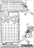 Coloring and letter practice page (the letter S) with Abbey Bominable from Monster High. Practice drawing, writing and coloring the letter S in different shapes and sizes. Customize the ABBEY BOMINABLE letters and have fun with the coloring page while practicing on the tricky letter S. This printable colouring sheet show Abbey Bominable sitting in her Dot Dead Gorgeous outfit. This Abbey Bominable Monster High colouring page is drawn by elfkena ( http://elfkena.deviantart.com/ ). It has been made available for free download and printing via the artist deviant art url, squidoo pages and several monster high fan pages. Abbey Bominable from Monster High is cold and fur themed female humanoid monster character. According to the Monster High lore, Abbey Bominable is the daughter of the Yeti, also known as the Abominable Snowman. She is 16 years old, a girl of few words, good at math and not too happy with drama