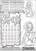 Coloring and letter practice page (the letter S) with Abbey Bominable from Monster High. Practice drawing, writing and coloring the letter S in different shapes and sizes. Customize the ABBEY BOMINABLE letters and have fun with the coloring page while practicing on the tricky letter S.   This printable colouring sheet show Abbey Bominable about to blow a kiss. This Abbey Bominable Monster High colouring page was found at several blogs, fan sites and via public image search. No author details were available with the coloring page.