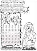 Coloring and letter practice page (the letter S) with Abbey Bominable from Monster High. Practice drawing, writing and coloring the letter S in different shapes and sizes. Customize the ABBEY BOMINABLE letters and have fun with the coloring page while practicing on the tricky letter S.   This printable colouring sheet show Abbey Bominable with a snowball in one hand ready to be thrown. This Abbey Bominable Monster High colouring page is drawn by LissyBear ( http://LissyBear.deviantart.com/ ). It has been made available for free download and printing via the artist deviant art url, squidoo pages and several monster high fan pages.