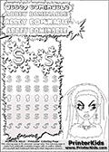 Coloring and letter practice page (the letter S) with Abbey Bominable from Monster High. Practice drawing, writing and coloring the letter S in different shapes and sizes. Customize the ABBEY BOMINABLE letters and have fun with the coloring page while practicing on the tricky letter S.   This printable colouring sheet show Abbey Bominable up close. This Abbey Bominable Monster High colouring page was found at several blogs, fan sites and via public image search. No author details were available with the coloring page.