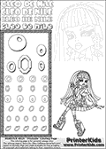 Kids Coloring and letter practice page (the Letter O) with Cleo De Nile from Monster High. Practice drawing, writing and coloring the Letter O in different shapes and sizes. Customize the CLEO DE NILE name in several ways, by coloring the name letters. Have fun with the coloring page while practicing on the alphabet Letter O. Colorize Cleo De Nile that is sitting down with her legs crossed while she is holding her phone in one hand up to her face. This Letter O - activity and Coloring Page for printing show Cleo De Nile in her classic egyptian princess outfit with golden objects, bandages and of course fantastic long dark hair. This Cleo De Nile Monster High printable page to color page is drawn by elfkena ( http://elfkena.deviantart.com/ ). It has been made available for free download and printing via the artist deviant art url, squidoo pages and several monster high fan pages. This printable colouring and letter practice page is themed around Cleo De Nile and the Letter O. The alphabet Letter O  is available in several designs inside a frame, designed to look like an egyptian tablet or pyramid wall drawing pattern. The Letter O is used for this printing page for practice and coloring, because it is one of the letters used in CLEO DE NILEs name. Be sure to check out letter and pencil practice printables with the other letters that are used to write CLEO DE NILE.
