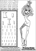 Kids Coloring and letter practice page (the Letter I) with Cleo De Nile from Monster High. Practice drawing, writing and coloring the Letter I in different shapes and sizes. Customize the CLEO DE NILE name in several ways, by coloring the name letters. Have fun with the coloring page while practicing on the alphabet Letter I. Color and customize a great printable with Cleo De Nile dancing. Perpahs it is time to add a few disco balls, a dance floor and some music! This Letter I - activity and Coloring Page for printing show Cleo De Nile in her classy Dawn of the Dance outfit and shoulder long hair. This Cleo De Nile Monster High printable page to color page is drawn by elfkena ( http://elfkena.deviantart.com/ ). It has been made available for free download and printing via the artist deviant art url, squidoo pages and several monster high fan pages. This printable colouring and letter practice page is themed around Cleo De Nile and the Letter I. The alphabet Letter I  is available in several designs inside a frame, designed to look like an egyptian tablet or pyramid wall drawing pattern. The Letter I is used for this printing page for practice and coloring, because it is one of the letters used in CLEO DE NILEs name. Be sure to check out letter and pencil practice printables with the other letters that are used to write CLEO DE NILE.