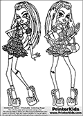 Monster High - Frankie Stein - Double Frankie - Coloring Page