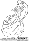Coloring page with HEX from the popular Skylanders Giants universe standing using a magical ability with skulls. This coloring print show the undead or death element Skylander in full standing with skulls flying around her. Print and color this Skylanders Giants Hex page that is drawn by Loke Hansen (http://www.LokeHansen.com) based on the original artwork of http://art--surgery.deviantart.com. Skylanders Hex Storyline: Long ago, Hex was a gifted and powerful sorceress who traveled deep into the underworld to confront the Undead Dragon King named Malefor, who made several attempts to capture her to learn her secrets. Though she successfully battled the dragon, Hex returned from the underworld changed � having unwillingly joined the ranks of the Undead. Many are wary of her since her transformation, suspecting she has used her powerful magic for evil purposes. But Eon trusts her, and views her as a most valuable Skylander ally.