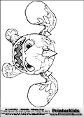Coloring page with Eruptor from skylanders. This printable colouring sheet show the Eruptor skylanders character that belong to an ancient special species that lived deep under ground in extremely hot areas. Print and color this Skylanders Eruptor page that is drawn the Skylanders artist I-Wei Huang (http://crabfuartworks.blogspot.com) and made available via the artist blog for free printing and download. The fantastic master sketch has been clipped, cut and cleaned by Loke Hansen (http://www.LokeHansen.com). Skylanders Eruptor storyline: Eruptor is a force of nature, hailing from a species that lived deep in the underground of a floating volcanic island until a massive eruption launched their entire civilization to the surface. He is a complete hot head - steaming, fuming, and quite literally erupting over almost anything. To help control his temper, he likes to relax in lava pools, particularly because there are no crowds.