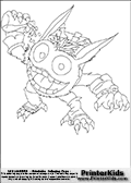 Coloring page with the crazy looking wild Pop Fizz skylanders character. This printable colouring sheet show the Pop Fizz skylanders character all crazy looking with a potion that is dripping in one hand. Print and color this Skylanders Pop Fizz page that is drawn by Loke Hansen (http://www.LokeHansen.com) and made available for free download and printing. Skylanders Popfiz storyline: Nobody is quite sure who Pop Fizz was before he became an alchemist, least of all Pop Fizz himself. After many years of experimenting with magical potions, his appearance has changed quite significantly. In fact, no one even knows his original color. But its widely known that he is a little crazy, his experiments are reckless, and the accidents they cause are too numerous to measure.  Understandably, he has had a difficult time finding lab partners, or anyone that even wants to be near him. In hopes of making himself more appealing to others, he attempted to create the most effective charm potion ever - but that just turned him into a big, wild, berserker. Or maybe thats just how he saw the potion working in the first place...