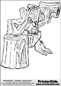 Coloring page with Stump Smash from Skylanders. This Skylanders coloring page with Stump Smash is designed with a Stump Smash coloring figure that take up almost the entire colouring sheet