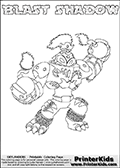Skylanders Swap Force - BLAST SHADOW - Coloring Page 1 Super Thin Line