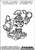 Printable and online colorable page for Skylanders Swap Force fans with the combination figure called BLAST SHIFT. BLAST SHIFT must be made by combining parts from other Skylanders Swap Force characters! BLAST SHIFT is drawn with the upper part of the BLAST ZONE Skylander and the lower part of the NIGHT SHIFT Skylander, the part used from each Skylander is used in the new skylanders name. In this coloring page, the BLAST SHIFT skylander can be colored completely. The colouring page is drawn with a very thick line making it ideal for the youngest Skylanders Swap Force fans. The downside of the thick line is that some detail areas become unavailable for coloring. The coloring page has a colorable text with the BLAST SHIFT letters as well. Print and color this Skylanders Swap Force BLAST SHIFT coloring book page that is drawn and made available by Loke Hansen (http://www.LokeHansen.com) based on the original artwork of the Skylanders characters from the Skylanders Swap Force website. Be sure to check the two other variants of this coloring page for more line width options.