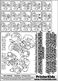 Printable Skylanders Swap Force coloring page for kids with all 16 combinations of Skylanders made with the BLAST upper part. Most of the skylanders coloring figures are relatively small - but the printable colouring sheet is really fun nonetheless. Print and color this Skylanders Swap Force MASTERS BLAST SWAP coloring print page that is drawn and made available by Loke Hansen (http://www.LokeHansen.com) based on the original artwork of the Skylanders characters from the Skylanders Swap Force website. This coloring page variant was originally designed as a coloring page section teaser for the PrinterKids website - but my own kids just loved it so much I turned it into a coloring page others could print as well! The Skylanders combinations show here for coloring are: BLAST ZONE, BLAST JET, BLAST STONE, BLAST KRAKEN, BLAST RANGER, BLAST BLADE, BLAST DRILLA, BLAST LOOP, BLAST CHARGE, BLAST SHIFT, BLAST SHAKE, BLAST ROUSER, BLAST RISE, BLAST BOMB, BLAST SHADOW and BLAST BUCKLER.