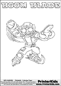 Skylanders Swap Force - BOOM BLADE - Coloring Page 1