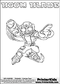 Skylanders Swap Force - BOOM BLADE - Coloring Page 2