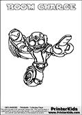 Skylanders Swap Force - BOOM CHARGE - Coloring Page 3