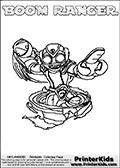 Skylanders Swap Force - BOOM STONE - Coloring Page 3
