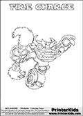 Skylanders Swap Force - FIRE CHARGE - Coloring Page 1