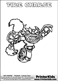 A printable coloring page with Skylanders Swap Force figure FIRE CHARGE. This is one of the MANY printable coloring pages here at www.PrinterKids.com that have a colorable Skylanders Swap Force figure with one of more parts from MAGNA CHARGE. This printable coloring sheet show the Skylanders Swap Force figure combination FIRE CHARGE, that drawn with the upper part of the FIRE KRAKEN Skylander and the lower part of the MAGNA CHARGE Skylander. In this coloring page, the FIRE CHARGE skylander parts are drawn so that the Skylander can be colored in full - as one character or figure (note that an online coloring page version is available as well via the link below the coloring page image). Print and color this Skylanders Swap Force FIRE CHARGE page that is drawn by Loke Hansen (http://www.LokeHansen.com) based on the original artwork of the Skylanders characters from the Skylanders Swap Force website. Be sure to check out the many other Skylanders Swap force coloring pages!