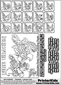 Printable Skylanders Swap Force coloring page for kids with all 16 combinations of Skylanders made with the FIRE upper part. Most of the skylanders coloring figures are relatively small - but the printable colouring sheet is really fun nonetheless. Print and color this Skylanders Swap Force MASTERS FIRE SWAP coloring print page that is drawn and made available by Loke Hansen (http://www.LokeHansen.com) based on the original artwork of the Skylanders characters from the Skylanders Swap Force website. This coloring page variant was originally designed as a coloring page section teaser for the PrinterKids website - but my own kids just loved it so much I turned it into a coloring page others could print as well! The Skylanders combinations show here for coloring are: FIRE ZONE, FIRE JET, FIRE STONE, FIRE KRAKEN, FIRE RANGER, FIRE BLADE, FIRE DRILLA, FIRE LOOP, FIRE CHARGE, FIRE SHIFT, FIRE SHAKE, FIRE ROUSER, FIRE RISE, FIRE BOMB, FIRE SHADOW and FIRE BUCKLER.