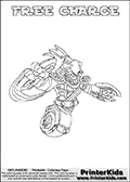 A printable coloring page with Skylanders Swap Force figure FREE CHARGE. This is one of the MANY printable coloring pages here at www.PrinterKids.com that have a colorable Skylanders Swap Force figure with one of more parts from MAGNA CHARGE. This printable coloring sheet show the Skylanders Swap Force figure combination FREE CHARGE, that drawn with the upper part of the FREE RANGER Skylander and the lower part of the MAGNA CHARGE Skylander. In this coloring page, the FREE CHARGE skylander parts are drawn so that the Skylander can be colored in full - as one character or figure (note that an online coloring page version is available as well via the link below the coloring page image). Print and color this Skylanders Swap Force FREE CHARGE page that is drawn by Loke Hansen (http://www.LokeHansen.com) based on the original artwork of the Skylanders characters from the Skylanders Swap Force website. Be sure to check out the many other Skylanders Swap force coloring pages!