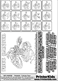 Printable Skylanders Swap Force coloring page for kids with all 16 combinations of Skylanders made with the FREE upper part. Most of the skylanders coloring figures are relatively small - but the printable colouring sheet is really fun nonetheless. Print and color this Skylanders Swap Force MASTERS FREE SWAP coloring print page that is drawn and made available by Loke Hansen (http://www.LokeHansen.com) based on the original artwork of the Skylanders characters from the Skylanders Swap Force website. This coloring page variant was originally designed as a coloring page section teaser for the PrinterKids website - but my own kids just loved it so much I turned it into a coloring page others could print as well! The Skylanders combinations show here for coloring are: FREE ZONE, FREE JET, FREE STONE, FREE KRAKEN, FREE RANGER, FREE BLADE, FREE DRILLA, FREE LOOP, FREE CHARGE, FREE SHIFT, FREE SHAKE, FREE ROUSER, FREE RISE, FREE BOMB, FREE SHADOW and FREE BUCKLER.
