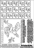 Printable Skylanders Swap Force coloring page for kids with all 16 combinations of Skylanders made with the FREEZE upper part. Most of the skylanders coloring figures are relatively small - but the printable colouring sheet is really fun nonetheless. Print and color this Skylanders Swap Force MASTERS FREEZE SWAP coloring print page that is drawn and made available by Loke Hansen (http://www.LokeHansen.com) based on the original artwork of the Skylanders characters from the Skylanders Swap Force website. This coloring page variant was originally designed as a coloring page section teaser for the PrinterKids website - but my own kids just loved it so much I turned it into a coloring page others could print as well! The Skylanders combinations show here for coloring are: FREEZE ZONE, FREEZE JET, FREEZE STONE, FREEZE KRAKEN, FREEZE RANGER, FREEZE BLADE, FREEZE DRILLA, FREEZE LOOP, FREEZE CHARGE, FREEZE SHIFT, FREEZE SHAKE, FREEZE ROUSER, FREEZE RISE, FREEZE BOMB, FREEZE SHADOW and FREEZE BUCKLER.
