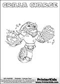 Skylanders Swap Force - GRILLA CHARGE - Coloring Page 1