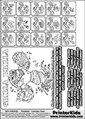 Printable Skylanders Swap Force coloring page for kids with all 16 combinations of Skylanders made with the GRILLA upper part. Most of the skylanders coloring figures are relatively small - but the printable colouring sheet is really fun nonetheless. Print and color this Skylanders Swap Force MASTERS GRILLA SWAP coloring print page that is drawn and made available by Loke Hansen (http://www.LokeHansen.com) based on the original artwork of the Skylanders characters from the Skylanders Swap Force website. This coloring page variant was originally designed as a coloring page section teaser for the PrinterKids website - but my own kids just loved it so much I turned it into a coloring page others could print as well! The Skylanders combinations show here for coloring are: GRILLA ZONE, GRILLA JET, GRILLA STONE, GRILLA KRAKEN, GRILLA RANGER, GRILLA BLADE, GRILLA DRILLA, GRILLA LOOP, GRILLA CHARGE, GRILLA SHIFT, GRILLA SHAKE, GRILLA ROUSER, GRILLA RISE, GRILLA BOMB, GRILLA SHADOW and GRILLA BUCKLER.