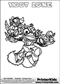 This coloring page (for printing or coloring online) show the Skylanders Swap Force figure combination HOOT ZONE. The HOOT ZONE Skylander in this colouring page is drawn with the upper part of the HOOT LOOP Skylander and the lower part of the BLAST ZONE Skylander. Both the upper and lower part can be colored, and the parts are drawn so that the coloring page for printing show the Skylander in full. Print and color this Skylanders Swap Force HOOT ZONE page that is drawn by Loke Hansen (http://www.LokeHansen.com) based on the original artwork of the Skylanders characters.