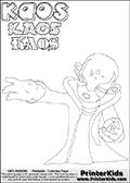 Skylanders Swap Force - Kaos - Coloring Page 4 Super Thin Line