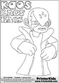Skylanders Swap Force - Kaos - Coloring Page 8 Editors Choice