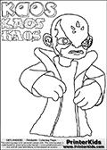 Skylanders Swap Force - Kaos - Coloring Page 9 THICK LINE