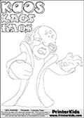 Skylanders Swap Force - Kaos - Coloring Page 10 Super Thin Line