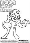 Skylanders Swap Force - Kaos - Coloring Page 12 THICK LINE