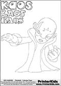Skylanders Swap Force - Kaos - Coloring Page 16 Super Thin Line