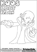 Skylanders Swap Force - Kaos - Coloring Page 17 Editors Choice