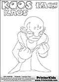 Skylanders Swap Force - Kaos - Coloring Page 25 Super Thin Line