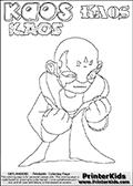 Skylanders Swap Force - Kaos - Coloring Page 26 Editors Choice