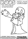 Skylanders Swap Force - Kaos - Coloring Page 30 THICK LINE