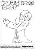 Skylanders Swap Force - Kaos - Coloring Page 32 Editors Choice