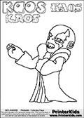 Skylanders Swap Force - Kaos - Coloring Page 33 THICK LINE