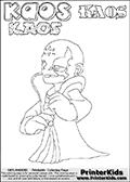 Skylanders Swap Force - Kaos - Coloring Page 34 Super Thin Line