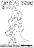 Skylanders Swap Force - Kaos - Coloring Page 35 Editors Choice